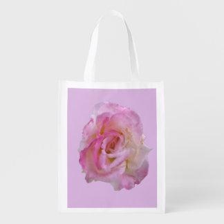 Light Pink Purple Rose Tote Bag