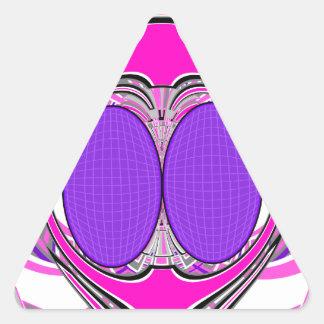 Light pink purple superfly design sticker