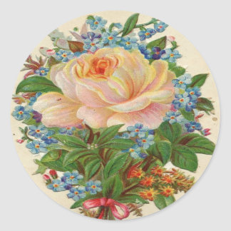 Light Pink Rose Classic Round Sticker