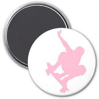 Light Pink Skater Refrigerator Magnet