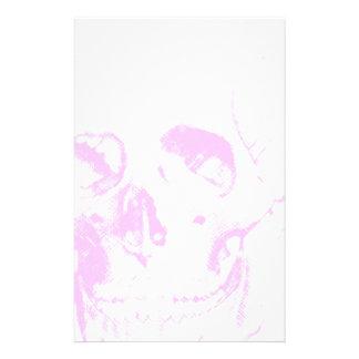 Light Pink Skull Stationery