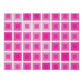 Light Pink Squares Posters