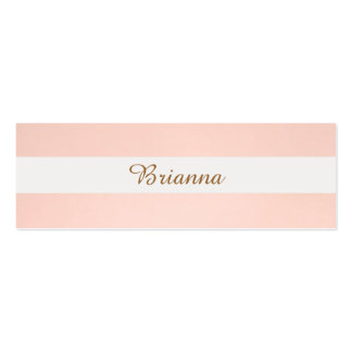 Light Pink Striped Feminine Elegant Simple Pack Of Skinny Business Cards
