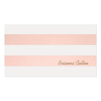 Light Pink Striped Feminine Elegant Simple Pack Of Standard Business Cards