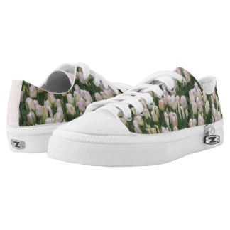 Light Pink Tulips Low Top Zipz Shoes Printed Shoes