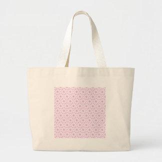 Light Pink White Flower Pattern Bags