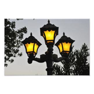 Light post photo print