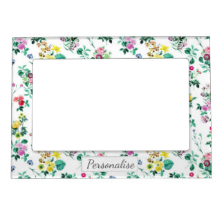 Light Pretty Summer Floral Pattern Magnetic Frame
