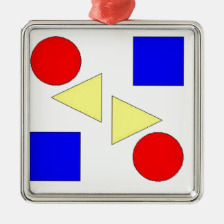Light Primary Silver-Colored Square Decoration