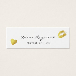 light pro profile card with gold heart & lips