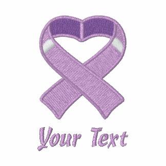 Light Purple Awareness Ribbon Embroidered Shirt