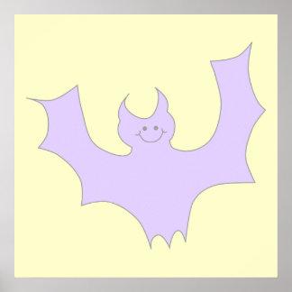 Light Purple Bat. Print