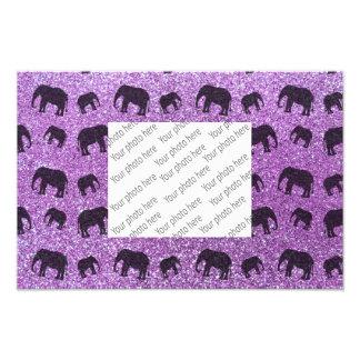 Light purple elephant glitter pattern art photo