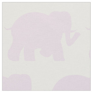 Light purple elephants fabric