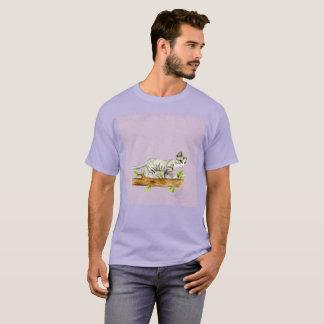 Light Purple Gato Cat Walk Watercolor Rare T-Shirt