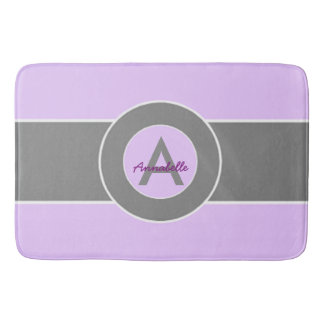 Light Purple Gray Bath Mat