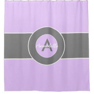 Light Purple Gray Shower Curtain
