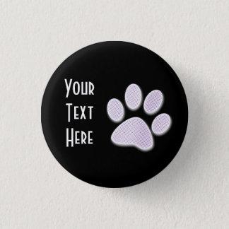 Light Purple Halftone Paw Print 3 Cm Round Badge