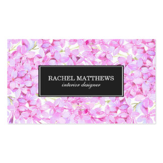 Light Purple Lilacs Professional Pack Of Standard Business Cards