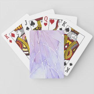 Light Purple Marble Break Playing Cards