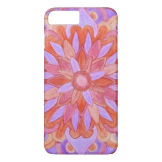 Light Purple & Peach Watercolor Mandala Design 26 iPhone 7 Plus Case