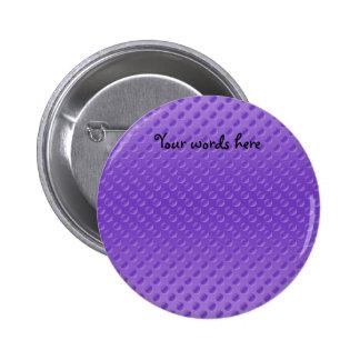 light purple polkadots on purple background 6 cm round badge