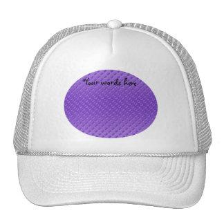 light purple polkadots on purple background hats
