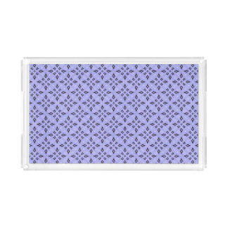 Light Purple Retro Geometrical Pattern Acrylic Tray
