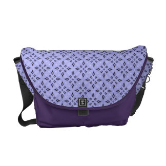 Light Purple Retro Geometrical Pattern Commuter Bags
