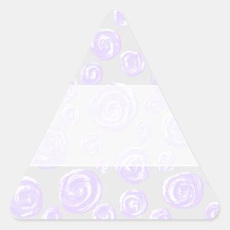 Light purple rose pattern on pale gray. sticker