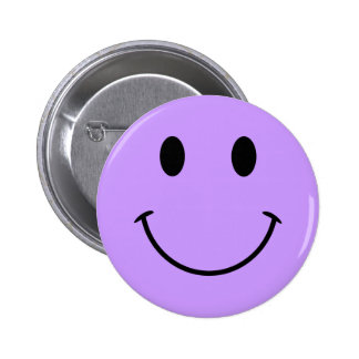 Light Purple Smiley Face Button