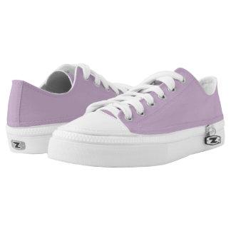 Light purple unicolor printed shoes