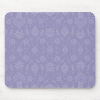 Light Purple Vintage Floral Mouse Pad