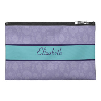 Light Purple Vintage Floral Travel Accessory Bag