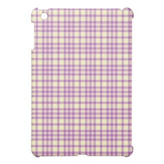 Light Purple Yellow Plaid Pattern iPad Speck Case iPad Mini Cover