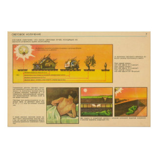 light radiation poster