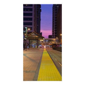 Light Rail Transit in Minneapolis Customized Photo Card