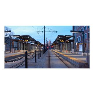 Light Rail Transit in Saint Paul Photo Greeting Card