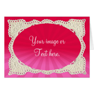 LIGHT RAYS & LACE OVAL TEMPLATE by SHARON SHARPE Greeting Card