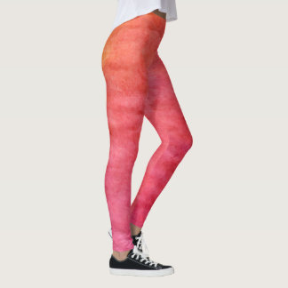 light red and orange leggings