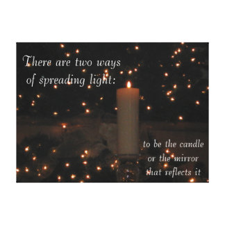 Light Reflection Stretched Canvas Print