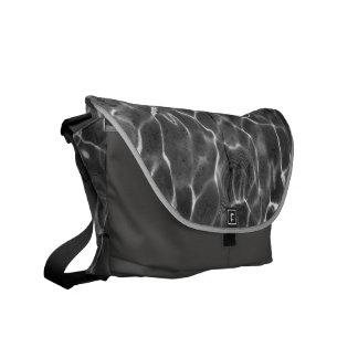 Light Reflections On Water: Black & White Messenger Bag