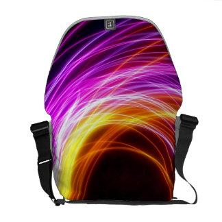 Light Rings Messenger Bag