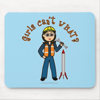 Light Rocket Scientist Girl Mouse Pad