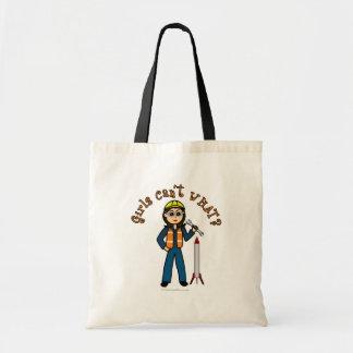 Light Rocket Scientist Girl Canvas Bags