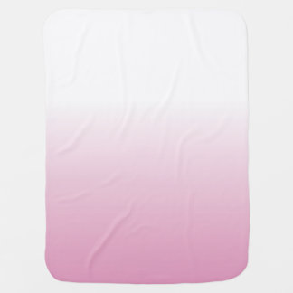 LIGHT ROSE PINK OMBRE BABY BLANKET