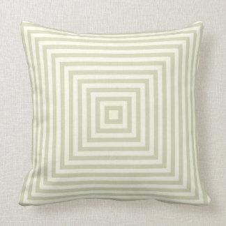 Light Sage Green Box Stripes Simple Pattern Cushion