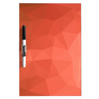 Light Salmon Abstract Low Polygon Background Dry Erase Board