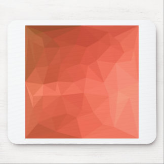 Light Salmon Abstract Low Polygon Background Mouse Pad
