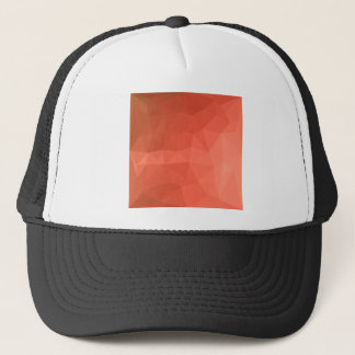 Light Salmon Abstract Low Polygon Background Trucker Hat